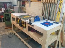 DIY Table Saw Workbench Plans