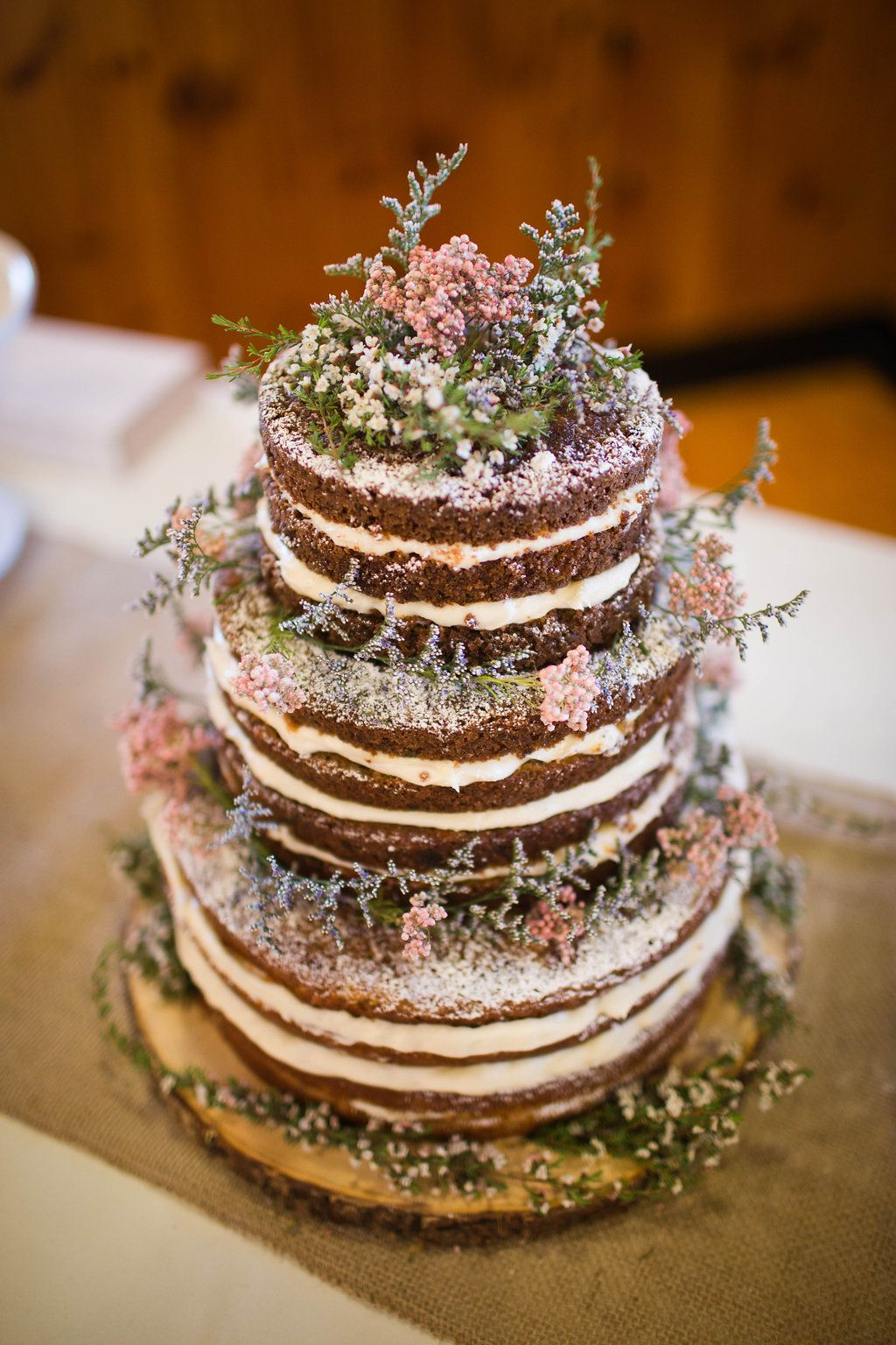 Rustic Wedding Naked Carrot Cake
