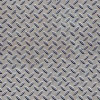 Seamless diamond patterned steel floor or wall