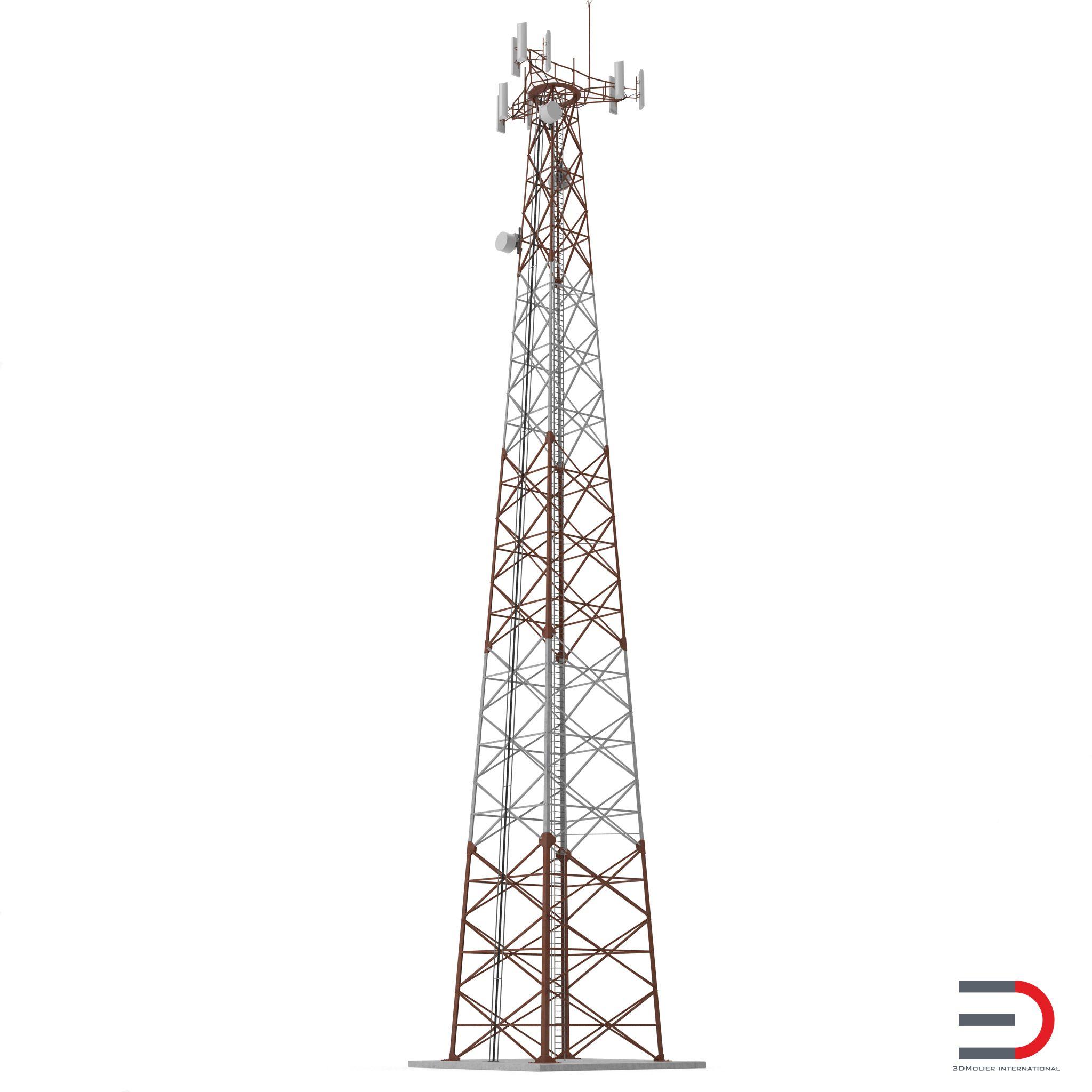 Cellphone Tower 3d Model Turbosquid 3d