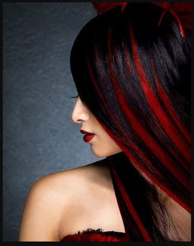 Black hair with red highlights images the best black hair 2017 black hair with red highlights for emo style pmusecretfo Choice Image