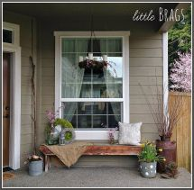 """Little Brags Early Spring Porch """"hometalk & Funky"""