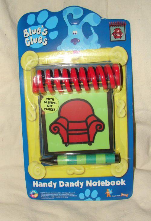 blues clues notebook crayon