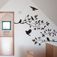Black Bird Tree Branch Wall stickers Wall Decal Removable ...