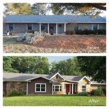 Ranch House Remodel Before and After