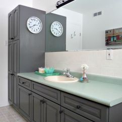 Kitchen Facelift Before And After Hutch Plans Rustoleum Transformations Tile Paint Cabinet ...