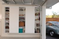 Slimline built in cupboards with sliding doors for ease of ...
