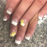 french nail art ideas sunflowers