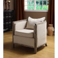 Modern rustic accent chair - restoration hardware-esque ...