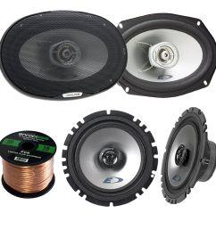 2x alpine sxe 1725s 6 5 80 watt 2 way coaxial car audio speakers [ 1600 x 1600 Pixel ]