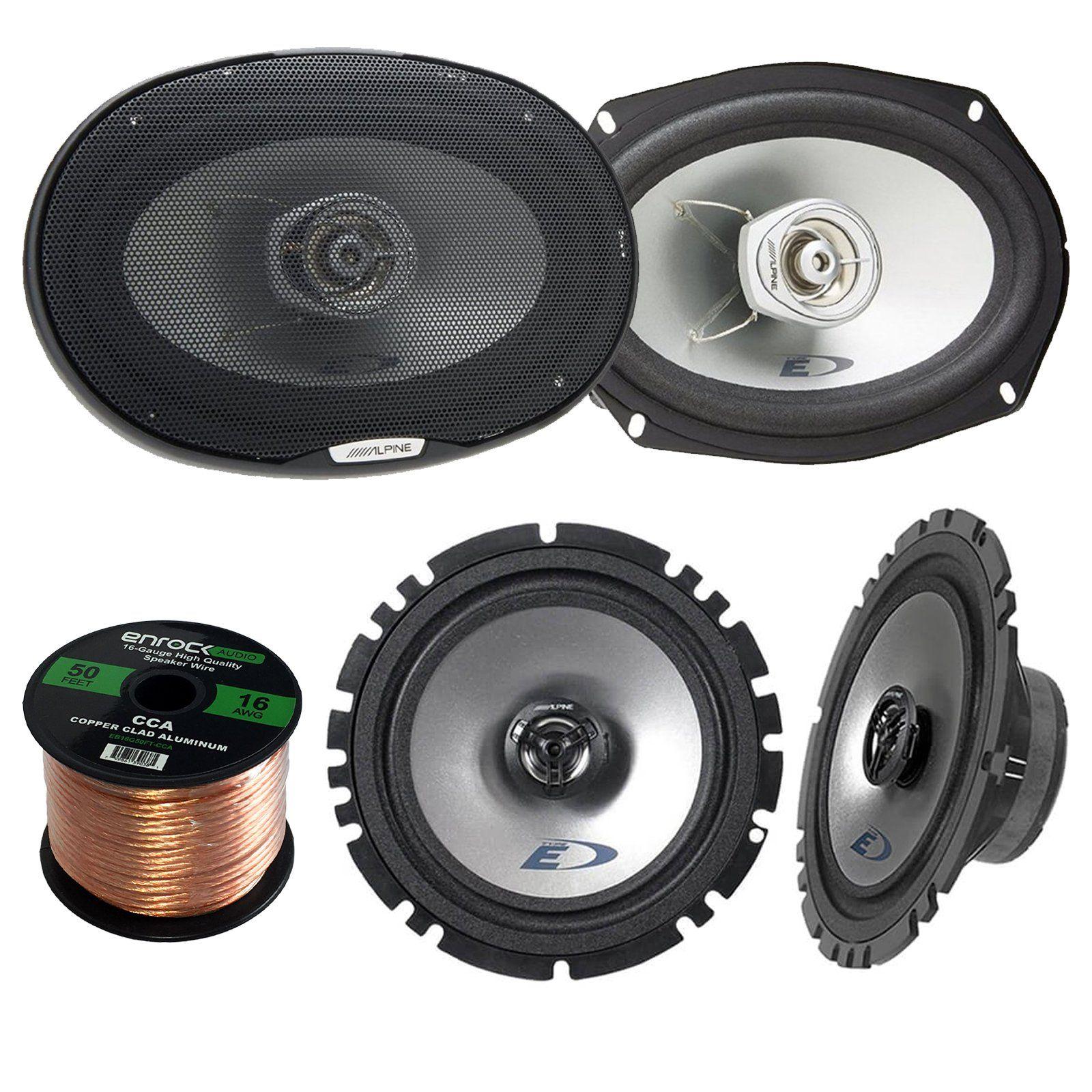 hight resolution of 2x alpine sxe 1725s 6 5 80 watt 2 way coaxial car audio speakers
