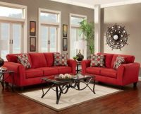how to decorate with a red couch - Google Search | new ...