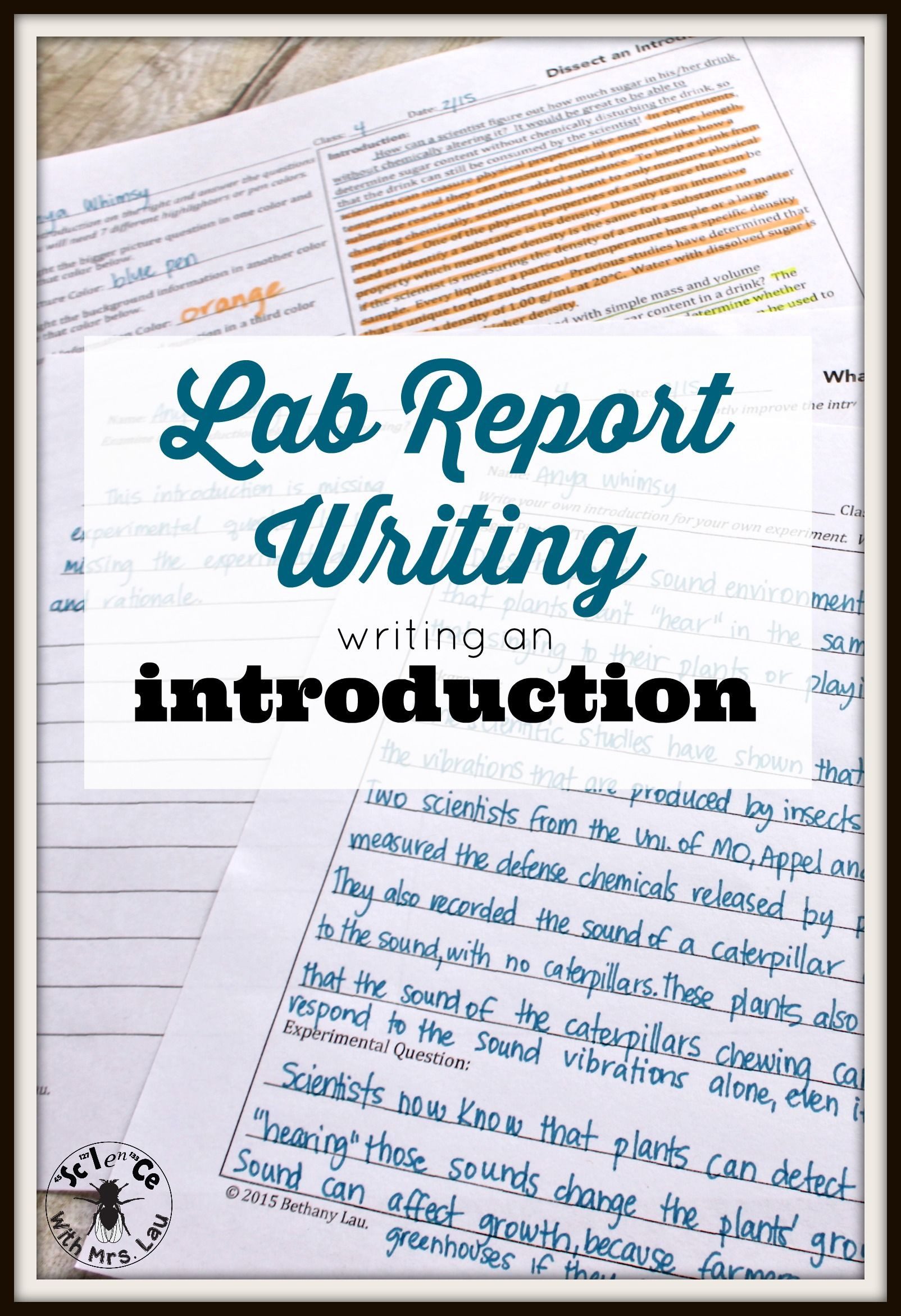 How To Write A Lab Report For Ap Chemistry