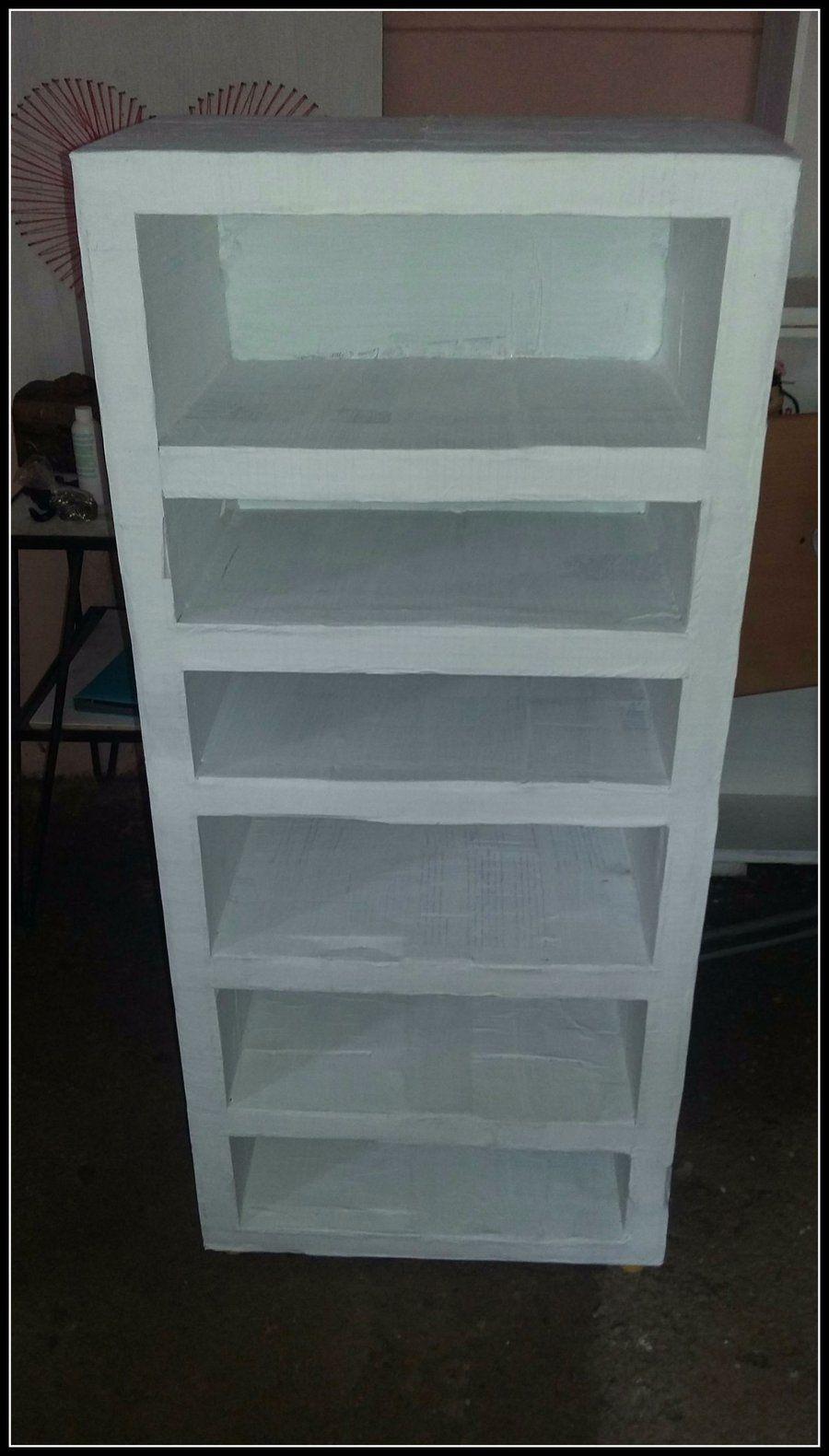Mueble organizador hecho de cartn paso a paso