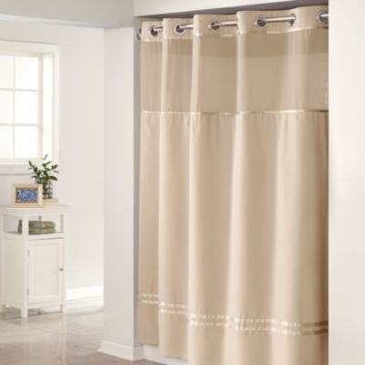 Hookless® Escape Taupe 71 Inch W X 74 Inch L Fabric Shower Curtain