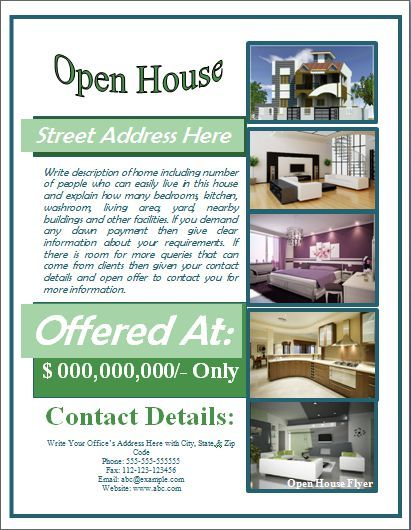 Open House Flyer Template Free For Mortgage Open House Flyer