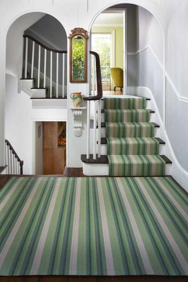 Green Carpet Runner Stairs