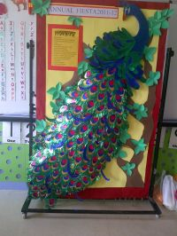 All paper...peacock | bulletin board ideas | Pinterest ...
