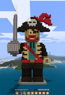 LEGO Minecraft Statue