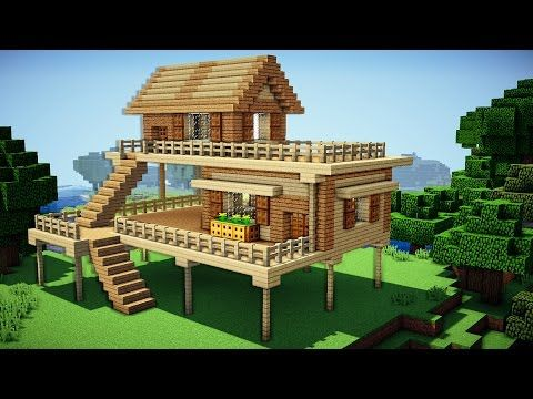Minecraft How To Build A Survival House On Water House Tutorial