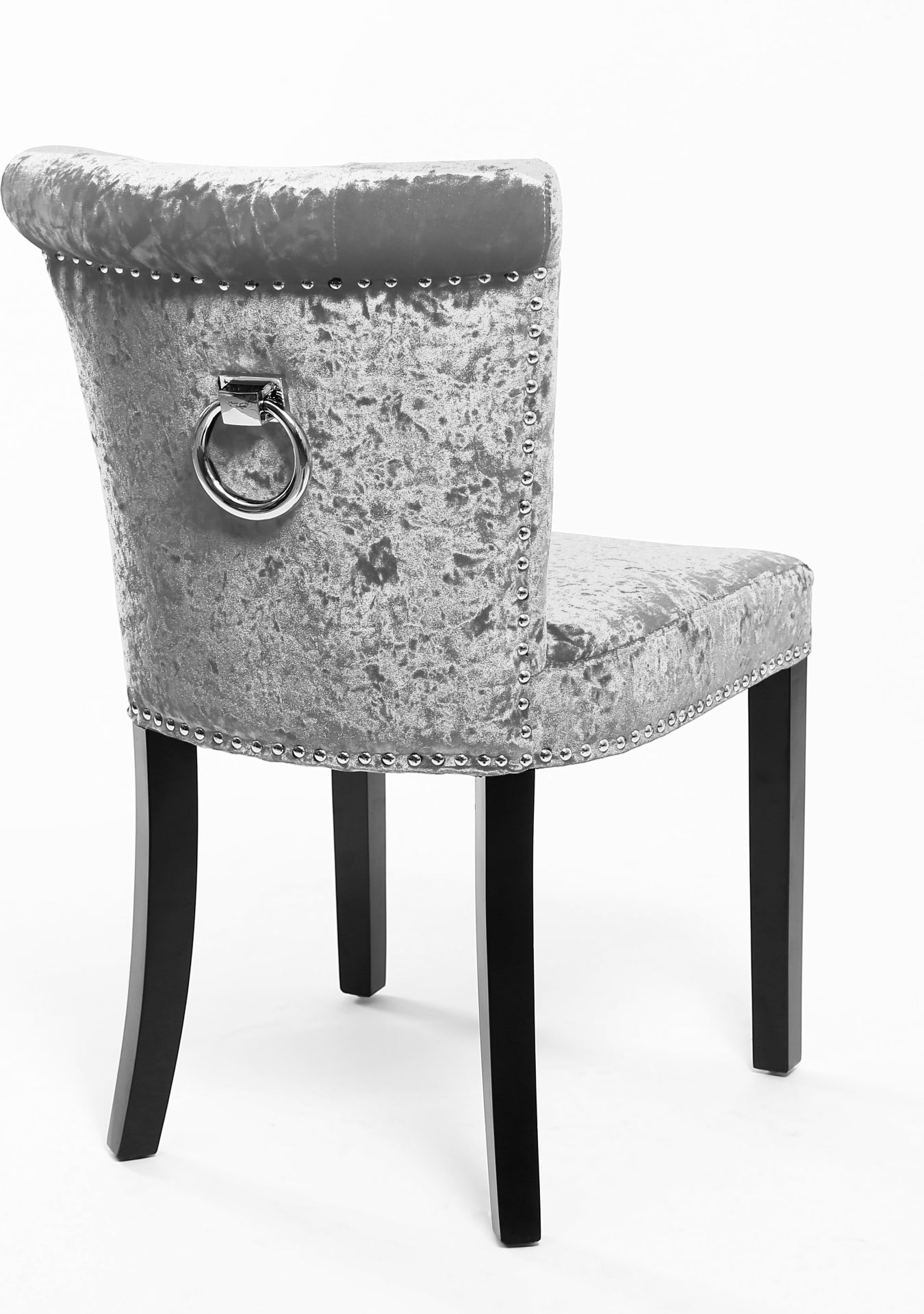 dining chair covers velvet karlstad cover uk the sandringham crushed silver fabric chairs
