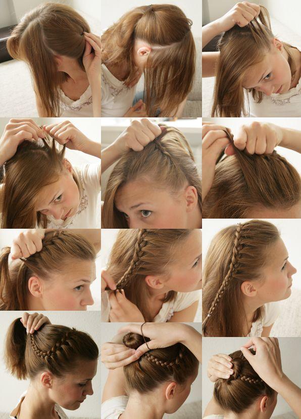 20 Easy And Sassy DIY Hairstyle Tutorials Headband Updo