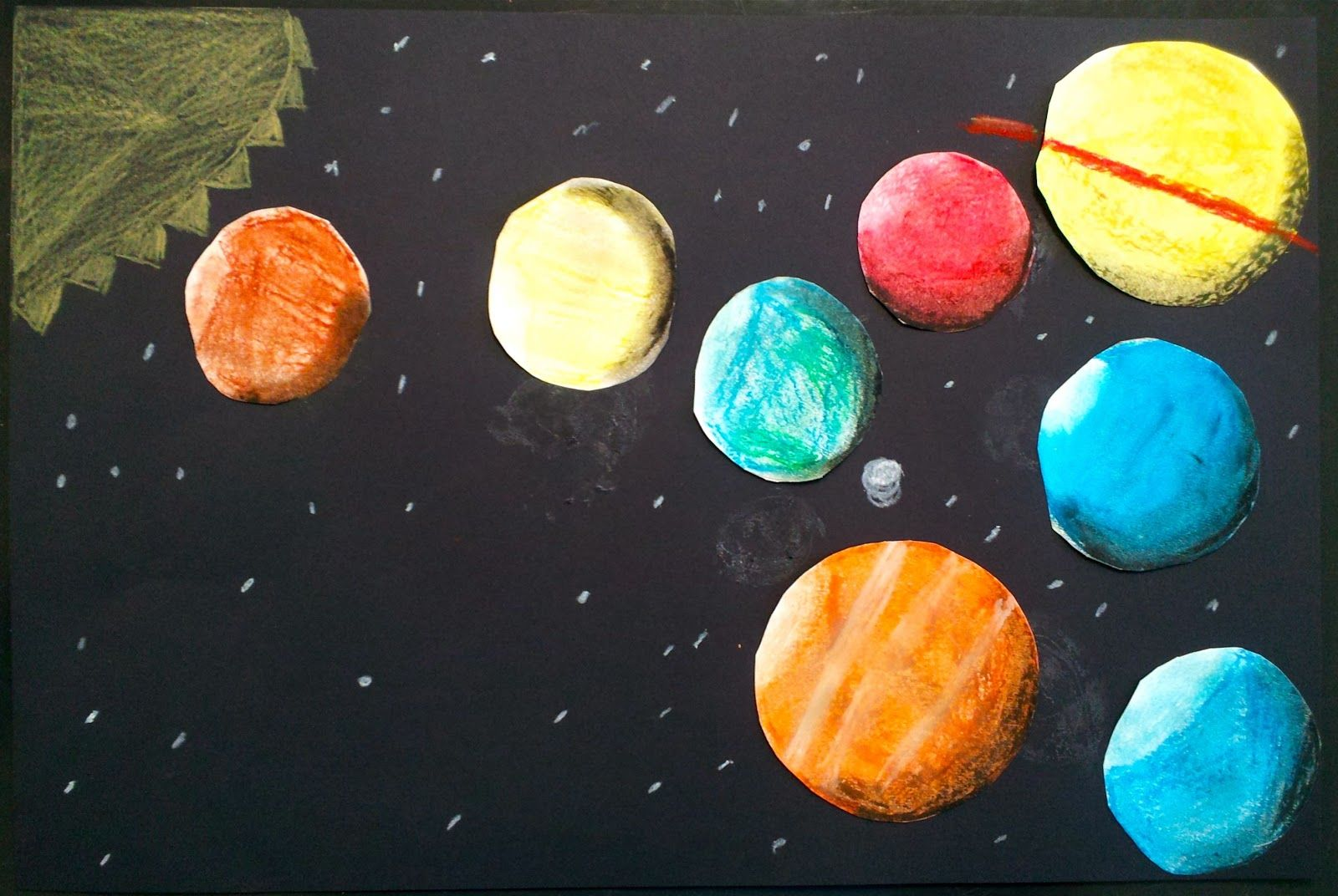 Art With Ms Gram Oil Pastel Planets 5th Grade Value