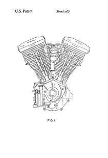Harley Shovelhead Engine Drawing, Harley, Free Engine