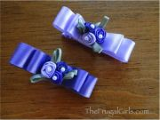 ribbon barrettes ideas