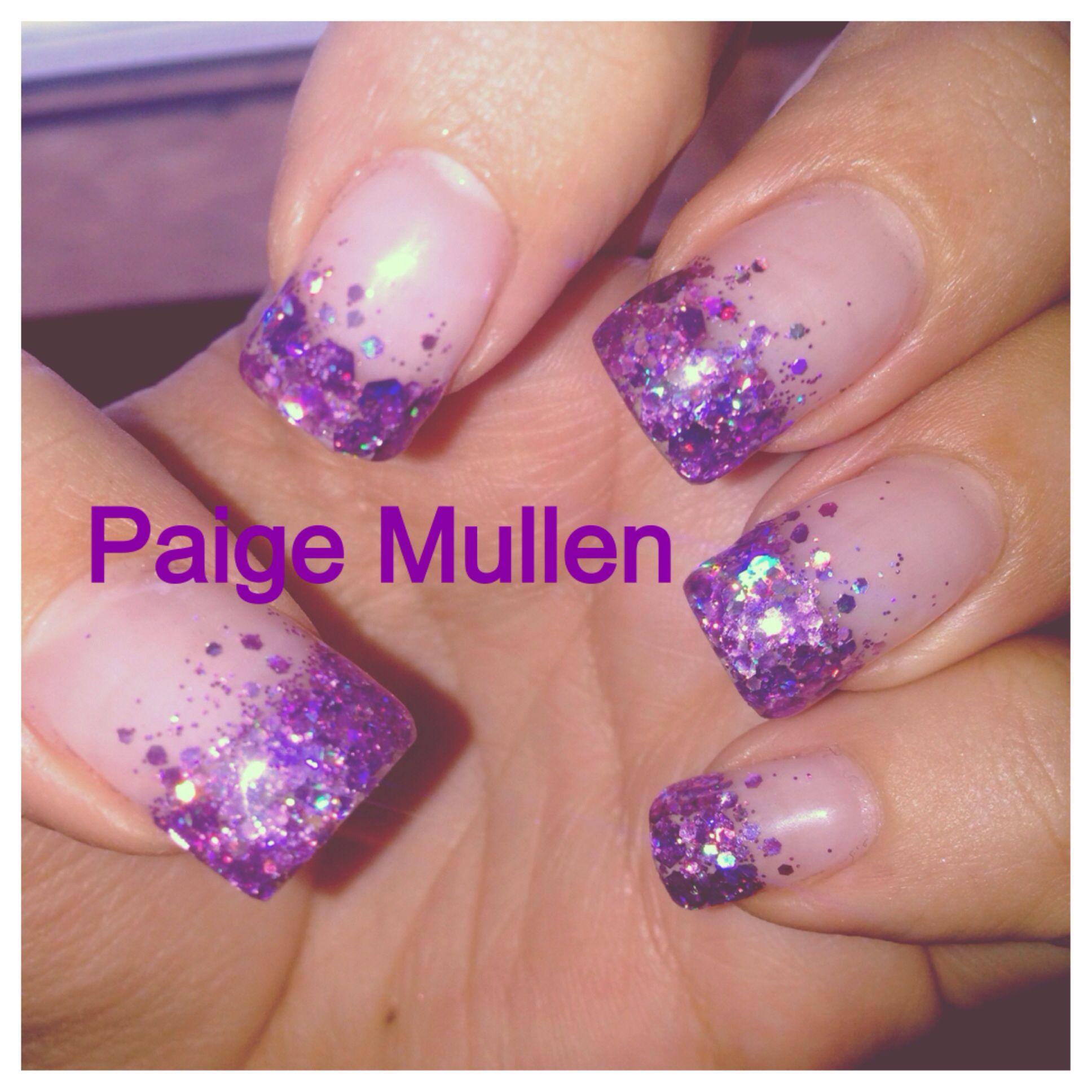 French Manicure Designs Purple