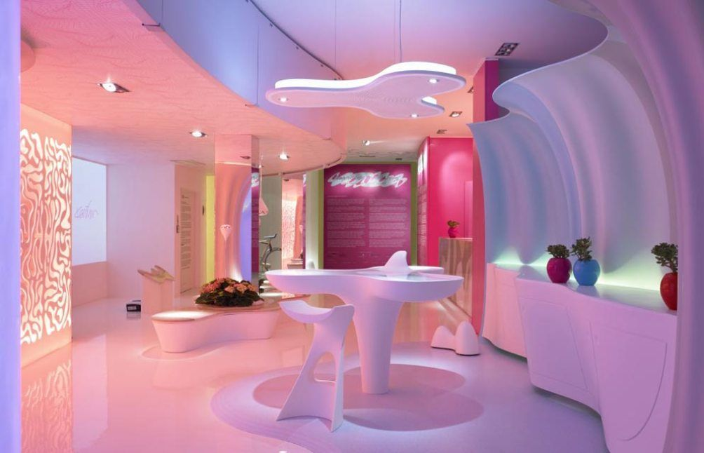 Interior Futuristic Home Interior Decorating Ideas With Colorful