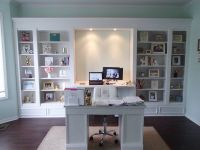 My DIY office built ins. We used 4 IKEA Hemnes bookcases ...