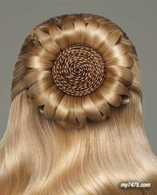 Even It This Is Fake It's Quite Interesting! Updo's Pinterest