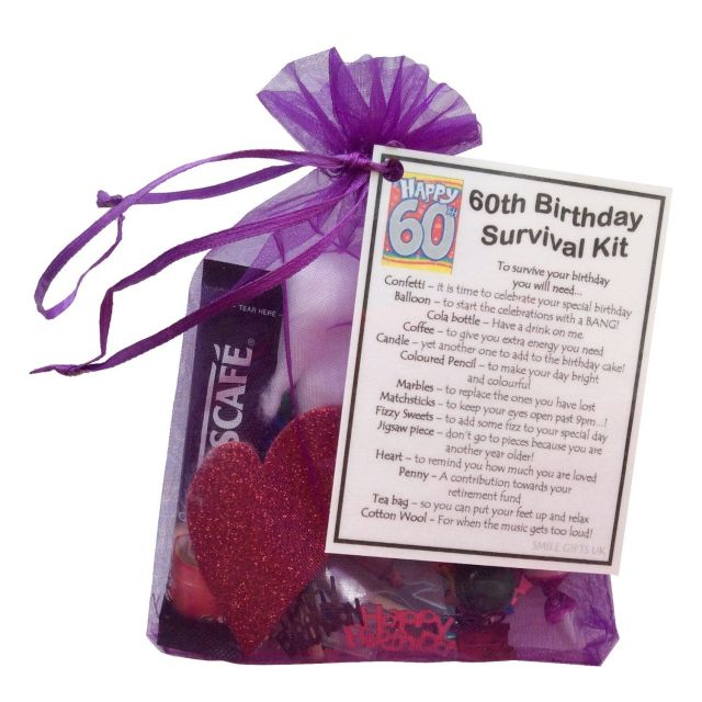 60th birthday gift unique novelty survival kit great