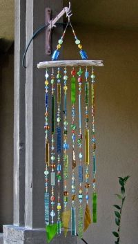 diy wind chimes | Stained Glass Wind Chime | DIY | Craft ...