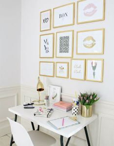 How to make your home insta worthy also white desks gallery wall and rh pinterest
