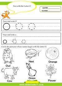 Letter O Tracing Worksheets