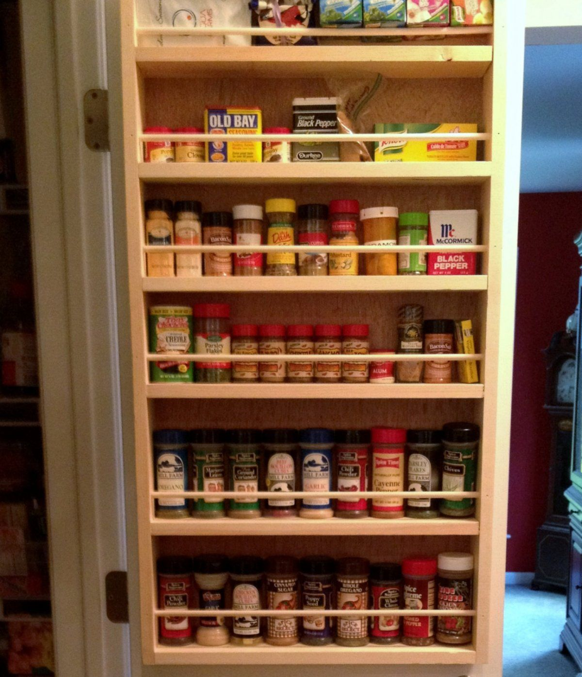 kitchen cabinet spice rack set on inside of pantry doors ideas for the