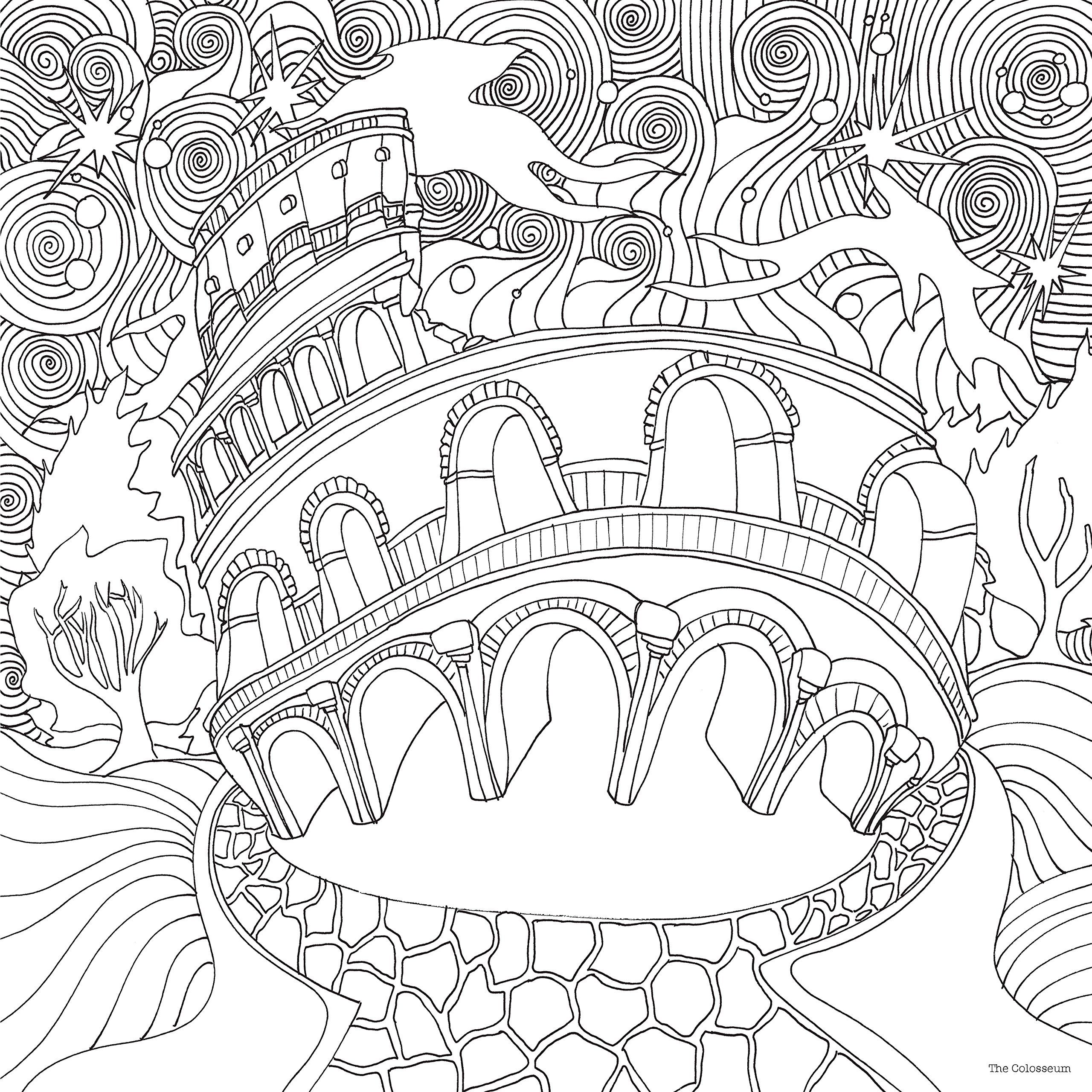 The Magical City A Colouring Book Lizzie Mary Cullen Books