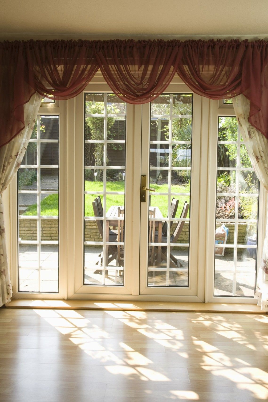 Beautiful White Glass Modern Design French Windows Style