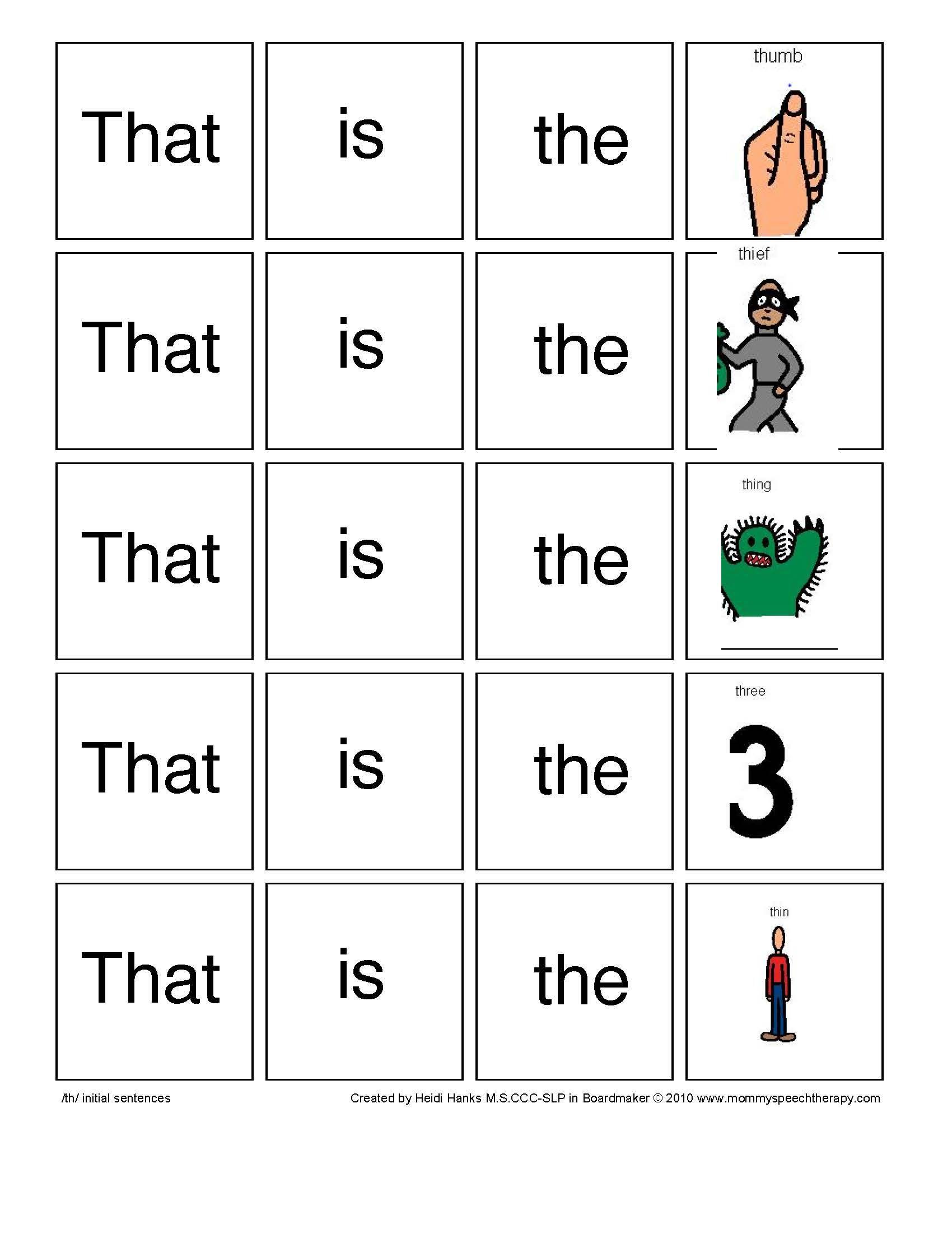 Th Phoneme Sentences Visit Us 8speech