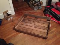 Do it yourself dog bed made from old pallets
