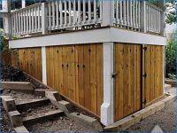 Diy Under Deck Storage Shed   Bridlewood Backyard ...