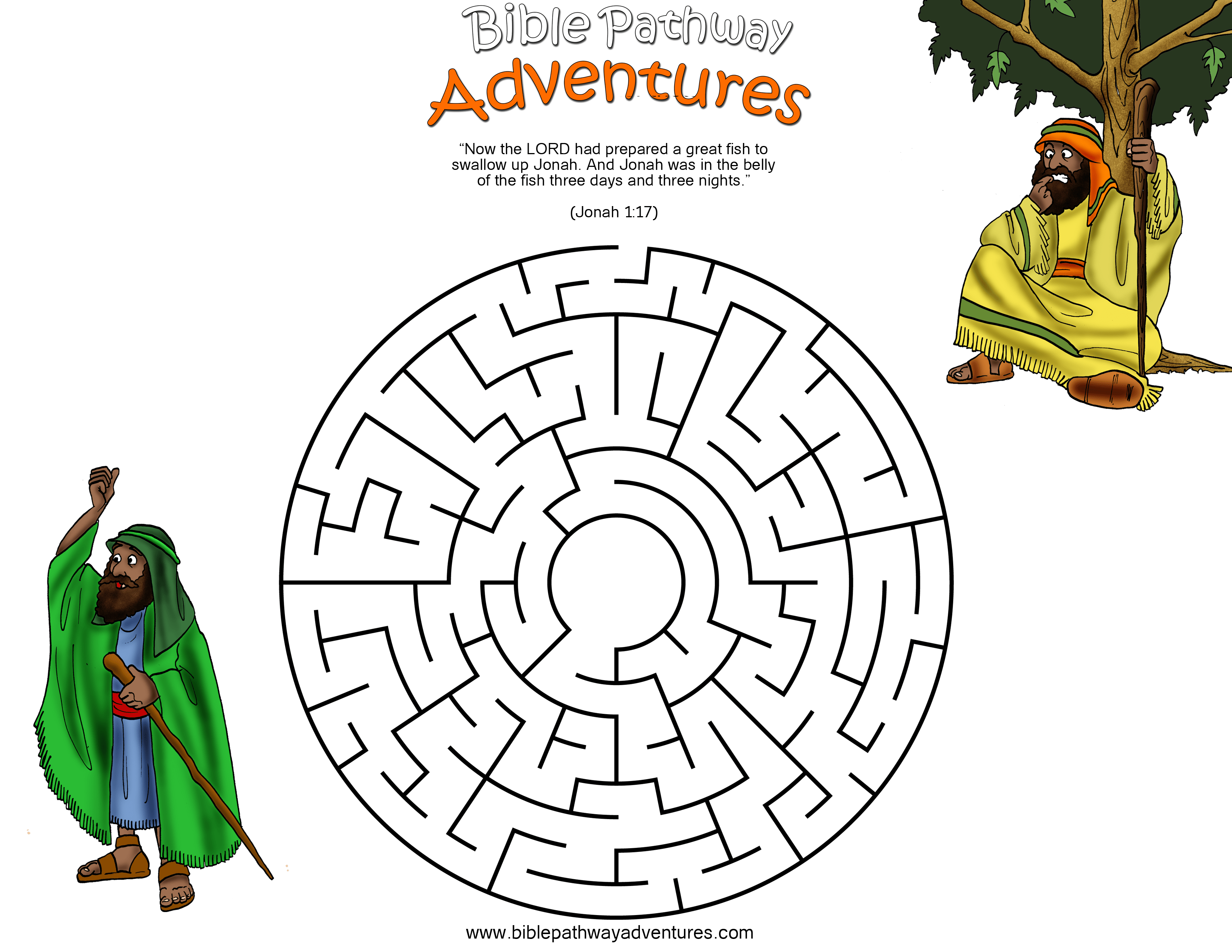 A Maze Activity For Kids From The Story Swallowed By A Fish