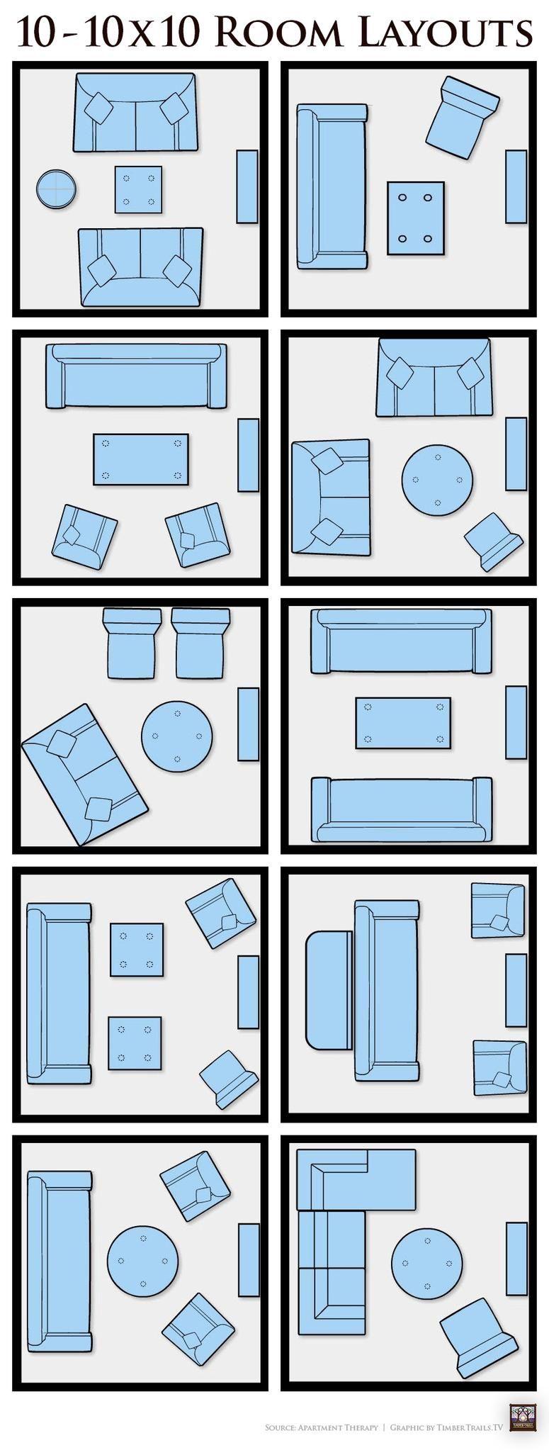 10 10x10 Living Room Layouts