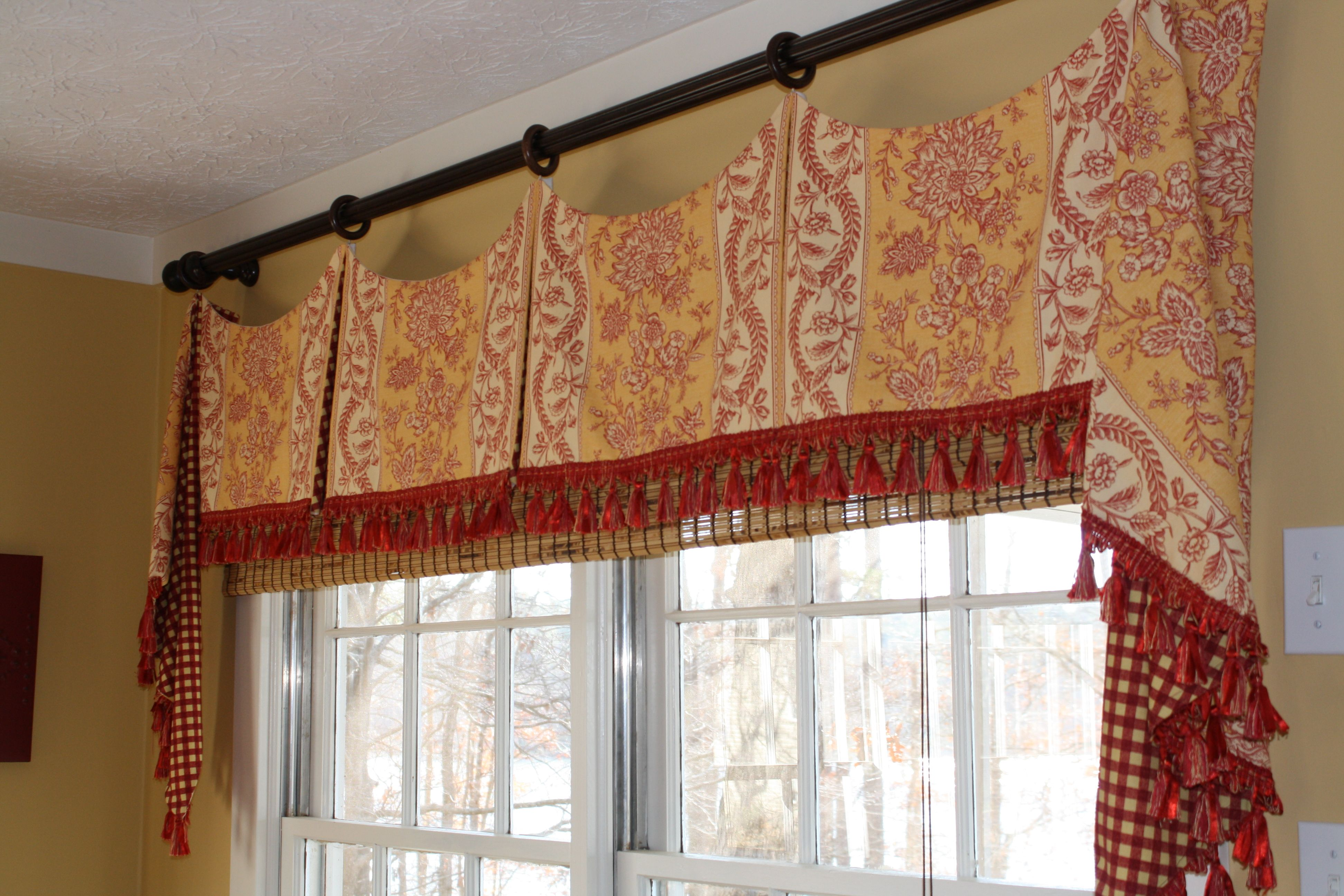 red valances for kitchen windows slim trash can image french country window treatments and toile