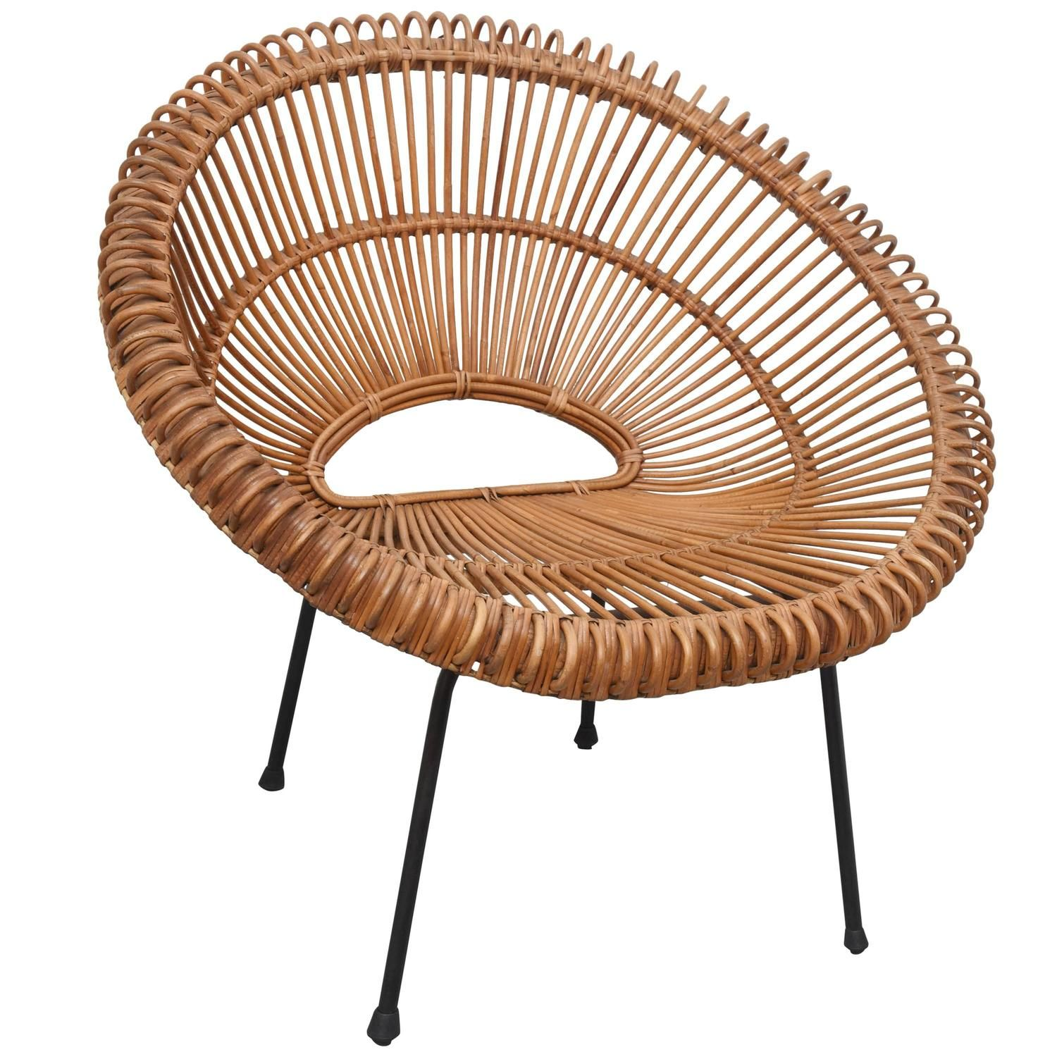 round wicker chair name high back dining chairs rattan by janine abraham dirk jan rol france