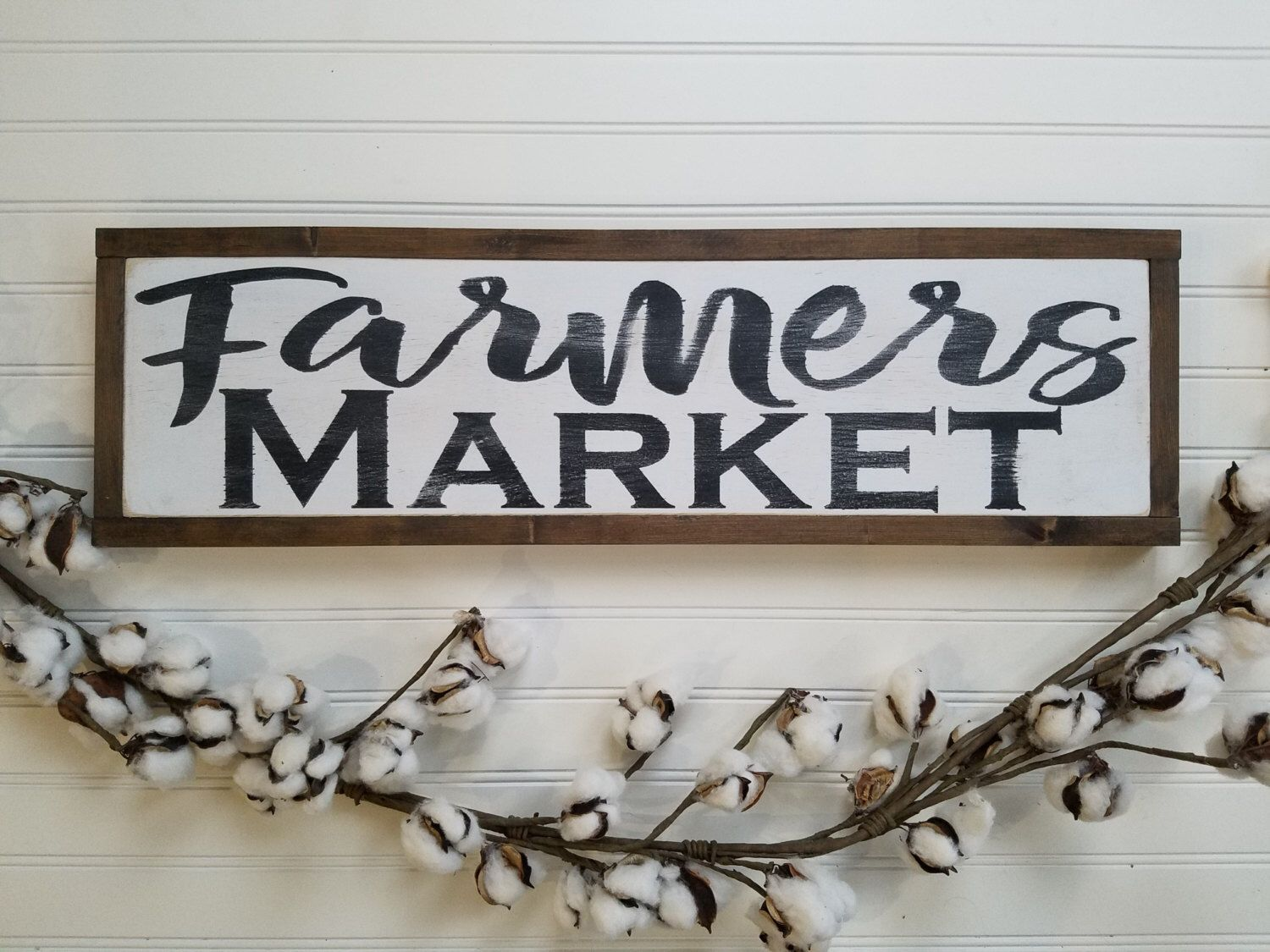 wooden signs for kitchen replace cabinet doors farmers market sign wood farmhouse