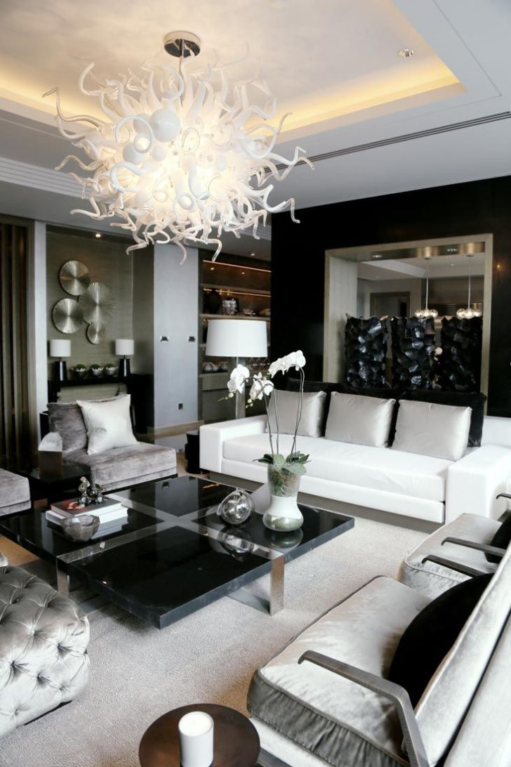 Interior Design: Interior Design Living Room Elegant. Full Hd Interior Design Living Room Elegant Of Color Pc Elegance In Black White Silver Kelly Hoppen