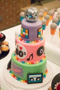 Strange Kuchen 80Er Party 80S Theme Birthday Party Cake 80S Theme Cake Funny Birthday Cards Online Elaedamsfinfo